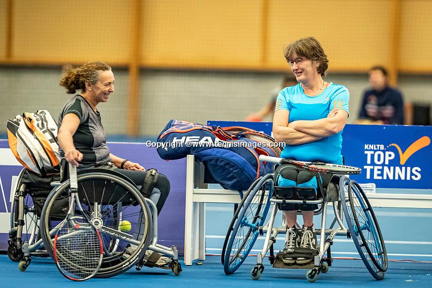 Alphen aan den Rijn, Netherlands, December 18, 2019, TV Nieuwe Sloot,  NK Tennis, Wheelchair womans doubles: Maaike Derks-Snellenberg (NED) and Marlise Peters (NED) (R)<br />  <br /> Photo: www.tennisimages.com/Henk Koster