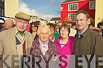 FRIENDS: friends meet up on Saturday morniung for the unveiling of the Christy Hennessy Statue in The Square, Tralee. l-r:  William Joe O'Connor,Patsy Griffin , Rita and John O'Sullivan Tralee.