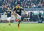 Solna 2014-03-31 Fotboll Allsvenskan AIK - IFK G&ouml;teborg :  <br /> AIK:s Robin Quaison i aktion <br /> (Foto: Kenta J&ouml;nsson) Nyckelord:  AIK Gnaget Solna IFK G&ouml;teborg Bl&aring;vitt portr&auml;tt portrait