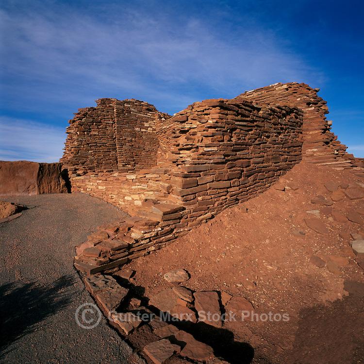 Wupatki Pueblo in Wupatki National Monument, near Flagstaff, Arizona, USA - Ancestral Puebloan / Anasazi House, Dwelling Ruins