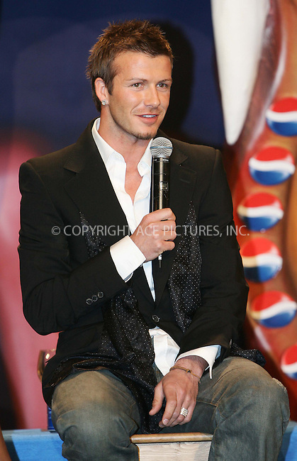 WWW.ACEPIXS.COM . . . . .  ... . . . . US SALES ONLY . . . . .....MADRID, FEBRUARY 23, 2005....David Beckham in Madrid to launch the Pepsi Spot campaign which took place at the Circulo De Bellas Artes.....Please byline: FAMOUS-ACE PICTURES-D. SOUTO... . . . .  ....Ace Pictures, Inc:  ..Philip Vaughan (646) 769-0430..e-mail: info@acepixs.com..web: http://www.acepixs.com