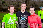 Caroline Reen, Brendan Reen and Christine Reen at the 5k Parkrun in Muckross Park on Saturday