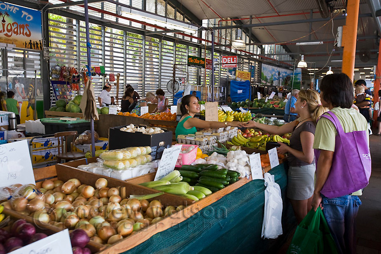 Shopping for fresh produce at Rusty's Markets.  Cairns, Queensland, Australia