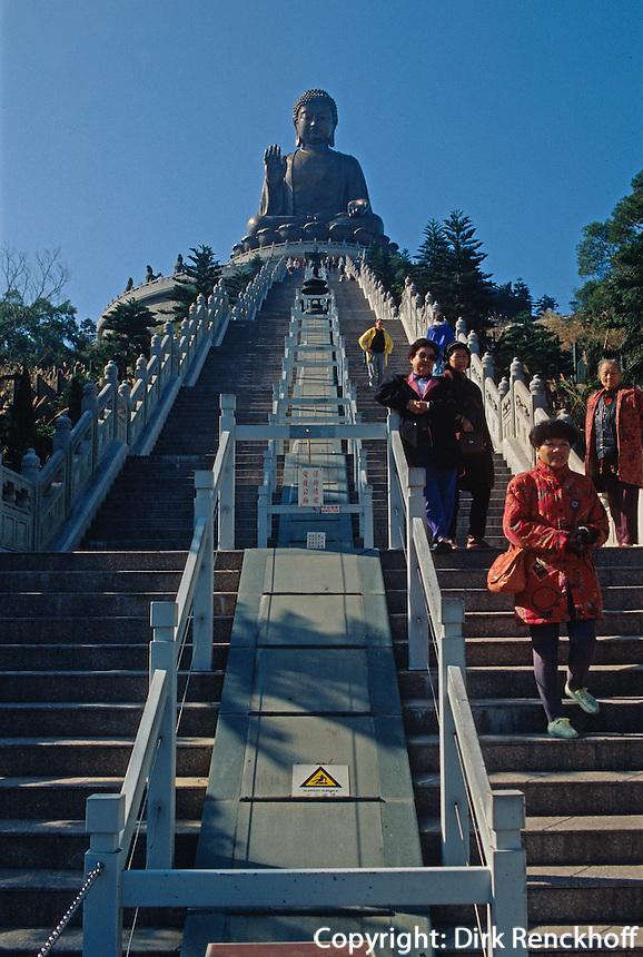 großer Buddha, Po Lin-Kloster,  Hongkong-Lantau, China