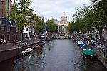 AMSTERDAM - The NETHERLANDS - 09 September 2012 -- View towards Church of St Nicholas (Nickolaskerk). -- PHOTO: Juha ROININEN /  EUP-IMAGES