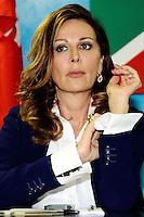 """Daniela Santanche'<br /> Milano 20/09/2013 Viale Monza<br /> conferenza stampa 'Da Pdl a Forza Italia' <br /> Press conference """"From PDL to Forza Italia"""" <br /> foto Andrea Ninni/Image/Insidefoto"""