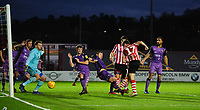 Lincoln City's Shay McCartan scores the opening goal<br /> <br /> Photographer Chris Vaughan/CameraSport<br /> <br /> The EFL Sky Bet League Two - Lincoln City v Port Vale - Tuesday 1st January 2019 - Sincil Bank - Lincoln<br /> <br /> World Copyright &copy; 2019 CameraSport. All rights reserved. 43 Linden Ave. Countesthorpe. Leicester. England. LE8 5PG - Tel: +44 (0) 116 277 4147 - admin@camerasport.com - www.camerasport.com