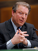 Washington, D.C. - March 21, 2007 -- Former United States Vice President Al Gore testifies before the United States Senate Committee on Environment and Public Works on his perspective on global warming in Washington, D.C. on Wednesday, March 21, 2007..Credit: Ron Sachs / CNP.(Editor's Note: No New York or New Jersey Newspapers within a 75 mile radius of New York City)