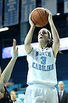 03 January 2013: North Carolina's Megan Buckland. The University of North Carolina Tar Heels played the University of Maryland Terrapins at Carmichael Arena in Chapel Hill, North Carolina in an NCAA Division I Women's Basketball game. UNC won the game 60-57.