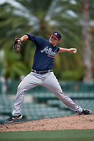GCL Braves pitcher Davis Schwab (36) during a Gulf Coast League game against the GCL Orioles on August 5, 2019 at Ed Smith Stadium in Sarasota, Florida.  GCL Orioles defeated the GCL Braves 4-3 in the second game of a doubleheader.  (Mike Janes/Four Seam Images)