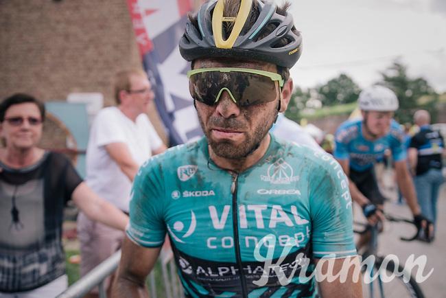 Kris Boeckmans' (BEL/Vital Concept) post-race face<br /> <br /> 3rd Dwars Door Het hageland 2018 (BEL)<br /> 1 day race:  Aarschot > Diest: 198km