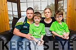 Dominick and Evan O'Connor, Ardshanavooley, Killarney with their parents Dan and Sheila