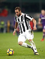 Calcio, Serie A: Fiorentina - Juventus, stadio Artemio Franchi Firenze 9 febbraio 2018.<br /> Juventus' Gonzalo Higuain is going to score during the Italian Serie A football match between Fiorentina and Juventus at Florence's Artemio Franchi stadium, February 9, 2018.<br /> UPDATE IMAGES PRESS/Isabella Bonotto
