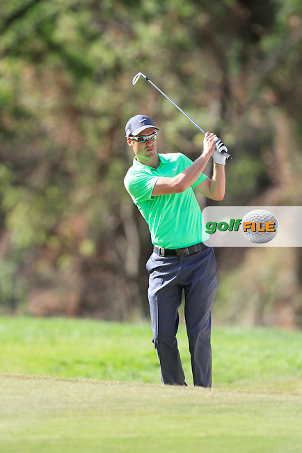 Ross Fisher (ENG) on the 7th fairway during Round 3 of the Open de Espana  in Club de Golf el Prat, Barcelona on Saturday 16th May 2015.<br /> Picture:  Thos Caffrey / www.golffile.ie
