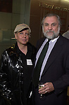 Gerry Shanahan poses with Tony Marro at Celebration of 35th Anniversary of Newsday Investigations Team held in Newsday Auditorium in Melville on Thursday September 26, 2002. (Newsday photo by Jim Peppler).