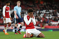 Tyreece John-Jules of Arsenal reacts after missing an opportunity to increase their lead during Arsenal Youth vs Blackpool Youth, FA Youth Cup Football at the Emirates Stadium on 16th April 2018