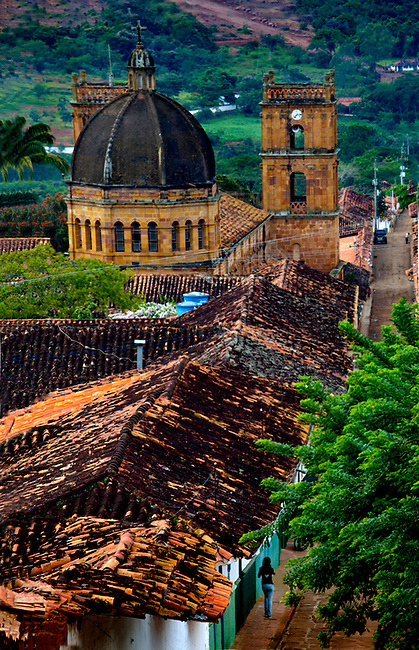 Colombia, Barichara, Iglesia de Barichara, Spanish Colonial Town Declared A National Monument, Santander Region