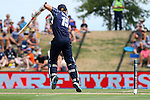 Scotland's Kyle Coertzer plays a short-pitched delivery. ICC Cricket World Cup 2015, Bangladesh v Scotland, 5 March 2015,  Saxton Oval, Nelson, New Zealand, <br /> Photo: Marc Palmano/shuttersport.co.nz