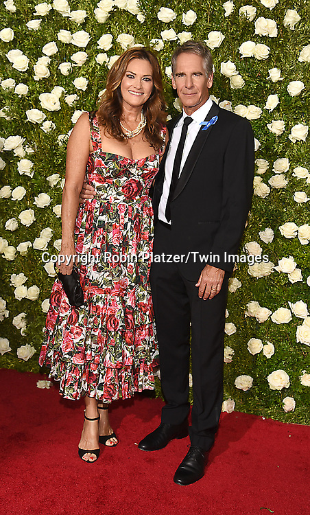 Scott Bakula and wife Chelsea Field attends the 71st Annual  Tony Awards on June 11, 2017 at Radio City Music Hall in New York, New York, USA.<br /> <br /> photo by Robin Platzer/Twin Images<br />  <br /> phone number 212-935-0770
