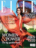 PUBLISHED WORK : ELLE Arab World - February 2012 - Cover Shot, Photos  & Article Writing