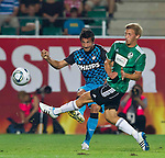 18.08.2011, Keine-Sorgen-Arena, Ried, AUT, UEFA EL, PLAYOFF, SV RIED (AUT) vs PSV EINDHOVEN (NED), Hinspiel, im Bild Stanislav Manolev (PSV Eindhoven, #2) vs Daniel Royer (SV Ried, #7) // during the UEFA Europaleague, 1st Leg Playoff Match, SV Ried against PSV Eindhoven at Keine-Sorgen-Arena, Ried, Austria on 2011-08-18, EXPA Pictures © 2011, PhotoCredit: EXPA/ J. Feichter