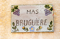 Domaine Mas Bruguiere. Pic St Loup. Languedoc. France. Europe.