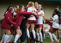 STANFORD, CA - November 23, 2018: Civana Kuhlmann, Team at Laird Q. Cagan Stadium. The top seeded Stanford Cardinal defeated the Tennessee Volunteers 2-0 in the Quarterfinal of the NCAA tournament.