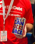 "Oct. 15, 2012 - Hempstead, New York, U.S. - Fix the Debt Campaign literature, can with ""The Can Kicks Back"" slogan, and more are on table in lobby of Hofstra University's John Cranford Adams Playouse, while the campaign's co-founders, Simpson and Bowles, speak in the auditorium about ?America's Debt and Deficit Crisis: Issues and Solutions.? This event with the co-chairmen of the National Commission on Fiscal Responsibility and Reform, and co-leaders of Simpson-Bowles non-partisan U.S. fiscal debt reduction plan, was part of ""Debate 2012 Pride Politics and Policy"" a series of events leading up to when Hofstra hosts the 2nd Presidential Debate between Obama and M. Romney, the next night, October 16, 2012, in a Town Meeting format."