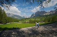 VeloNews reader Annie Davis Usher from Portland, Oregon descending Passo Croci--Italian Dolomites.