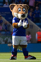 The Leicester mascot during the Premier League match between Leicester City and Tottenham Hotspur at the King Power Stadium, Leicester, England on 21 September 2019. Photo by James  Gill / PRiME Media Images.