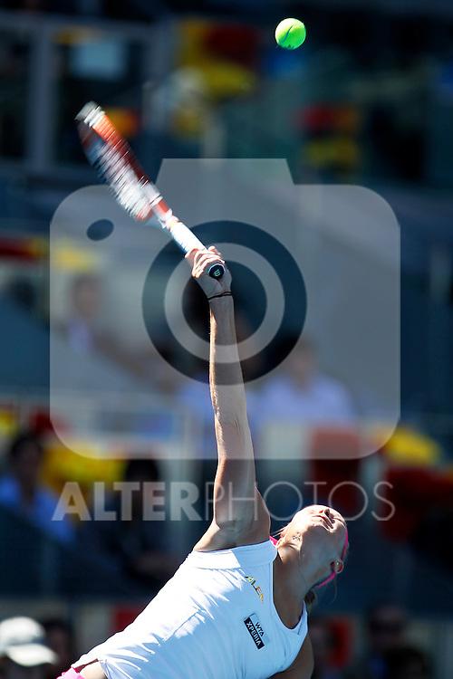 Lucie Hradecka during Madrid Open Tennis 2012 Match.May, 10, 2012(ALTERPHOTOS/ALFAQUI/Acero)