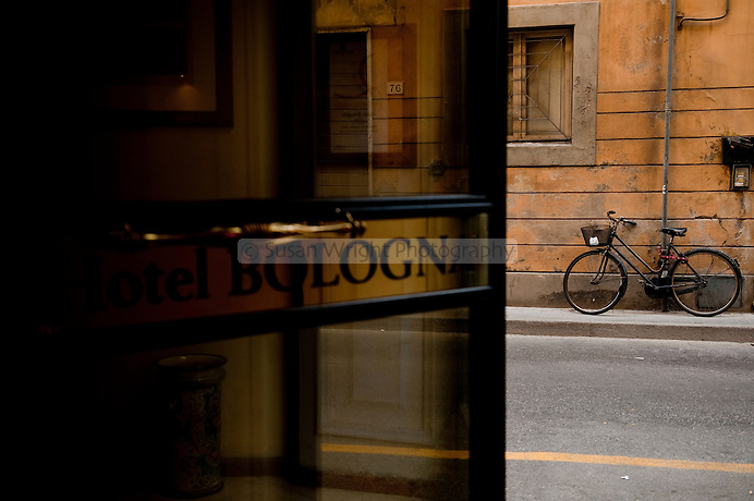 Hotel Balogna sign, Pisa, Tuscany, Italy