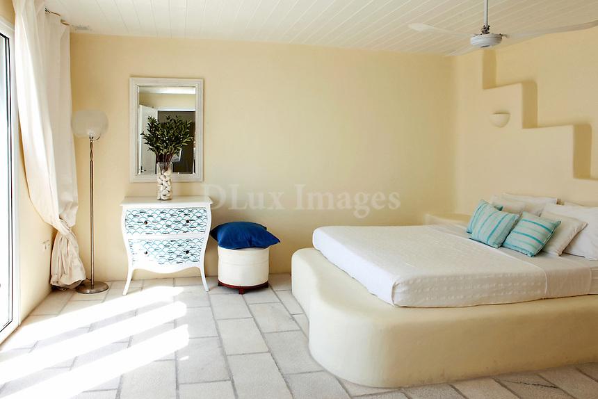 cycladic bright bedroom