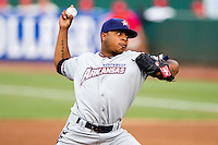 Jeremy Jeffress (30) of the Northwest Arkansas Naturals delivers a pitch during a game against the Springfield Cardinals and the Springfield Cardinals at Hammons Field on July 30, 2011 in Springfield, Missouri. Springfield defeated Northwest Arkansas 11-5. (David Welker / Four Seam Images)