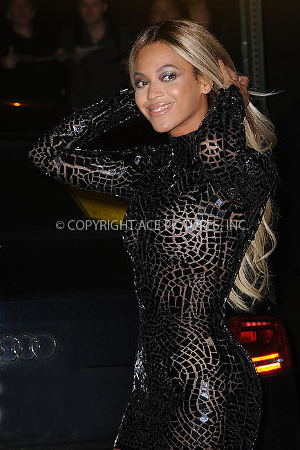 WWW.ACEPIXS.COM <br /> December 21, 2013 New York City<br /> <br /> Beyonce attends a release party and screening for her new album 'Beyonce' at the School of Visual Arts Theater on December 21, 2013 in New York City.<br /> <br /> Please byline: Kristin Callahan  <br /> <br /> ACEPIXS.COM<br /> Ace Pictures, Inc<br /> tel: (212) 243 8787 or (646) 769 0430<br /> e-mail: info@acepixs.com<br /> web: http://www.acepixs.com