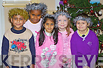 TINSEL TIME: Pupils preparing for the Presentation Primary school play on Tuesday are from left: Rashidin Rabi, Salma Hassan, Emaan Memon, Alice O'Connell, Dominika Czyekiewicz.