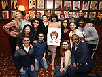 "Beth Leavel with the cast and creative team of ""The Prom"" during the Beth Leavel Portrait unveiling at Sardi's on 3/26/2019 in New York City."
