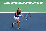 Timea Bacsinszky of Switzerland vs Shuai Zhang of China during their Singles Round Robin match at the Huajin Securities WTA Elite Trophy Zhuhai at the Hengqin International Tennis Centre on 01 November 2016 in Zhuhai, China. Photo by Marcio Rodrigo Machado / Power Sport Images