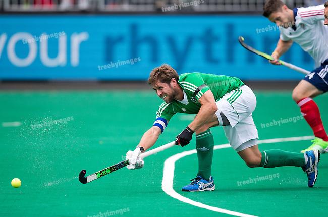 23/06/2015<br /> HWL Semi Final Antwerp Belgium 2015<br /> Ireland v Great Britain Men<br /> Ronan Gormley<br /> Photo: Grant Treeby
