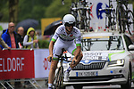Florian Vachon (FRA) Fortuneo-Oscaro in action during Stage 1, a 14km individual time trial around Dusseldorf, of the 104th edition of the Tour de France 2017, Dusseldorf, Germany. 1st July 2017.<br /> Picture: Eoin Clarke | Cyclefile<br /> <br /> <br /> All photos usage must carry mandatory copyright credit (&copy; Cyclefile | Eoin Clarke)