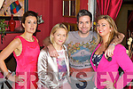 Geraldine and Noreen Mangan proprietors of What Women Want, Killarney  with celebrity Make-up Artist Ken Boylan who demonstrated  his new range of Ken Boylan Make Up/Play on Killarney lady Gearaldine O'Neill,  last Wednesday night, the range will be excusively available in What Women Want's in Killarney....