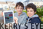 Killorglin Community College students Timothy McGrath right and Donal Brennan who are designing an App to help Visionary impaired people using the help of Near Field Communication