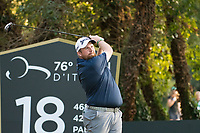 Shane Lowry (IRL) in action on the 18th hole during the second round of the 76 Open D'Italia, Olgiata Golf Club, Rome, Rome, Italy. 11/10/19.<br /> Picture Stefano Di Maria / Golffile.ie<br /> <br /> All photo usage must carry mandatory copyright credit (© Golffile | Stefano Di Maria)