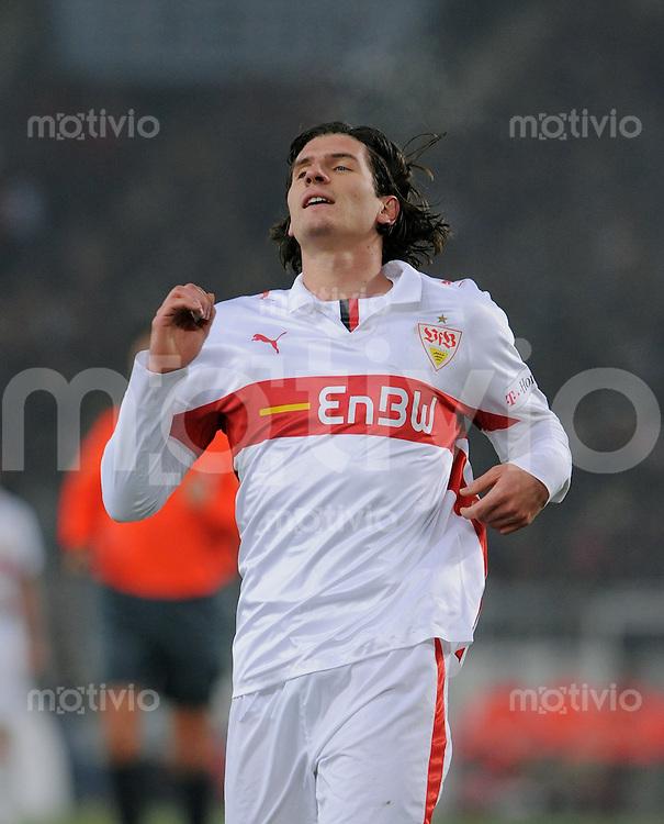 Fussball  1. Bundesliga  Saison 2008/2009   13.12.2008  17. Spieltag VfB Stuttgart - FC Bayern Muenchen Mario Gomez (VfB) enttaeuscht