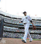 Masahiro Tanaka (Yankees), JULY 23, 2015 - MLB : New York Yankees starting pitcher Masahiro Tanaka is relieved in the eighth inning during a baseball game against the Baltimore Orioles at Yankee Stadium in New York, United States. (Photo by AFLO)