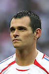 09 July 2006: Willy Sagnol (FRA).  Italy defeated France in a penalty kick shoot-out at the Olympiastadion in Berlin, Germany in match 64, the championship game, of the 2006 FIFA World Cup Finals.