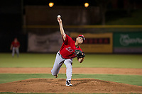 AZL Angels relief pitcher Luke Lind (49) gets delivers a pitch during a game against the AZL Giants on July 10, 2017 at Scottsdale Stadium in Scottsdale, Arizona. AZL Giants defeated the AZL Angels 3-2. (Zachary Lucy/Four Seam Images)