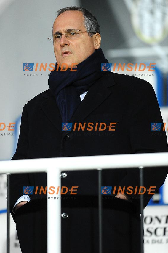 Claudio Lotito Presidente della Lazio.Siena 7/1/2012 Stadio Artemio Franchi.Football Calcio 2011/2012 Serie A.Siena Vs Lazio.Foto Insidefoto Andrea Staccioli