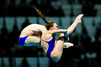 Picture by Rogan Thomson/SWpix.com - 15/07/2017 - Diving - Fina World Championships 2017 -  Duna Arena, Budapest, Hungary - Lois Toulson and Matty Lee of Great Britain win a Silver Medal in the Mixed 10m Synchro Platform Final.
