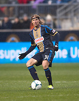 Jeff Parke.  The Philadelphia Union defeated the New England Revolution, 1-0, at PPL Park in Chester, PA.